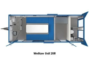 welfare unit 20ft