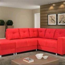 sofa canto vermelho