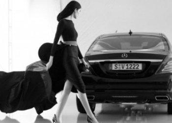 Ilustração de Carine Roitfeld e Mercedes Benz