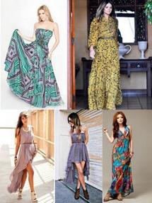 A moda dos novos modelos e tendências de vestidos longos