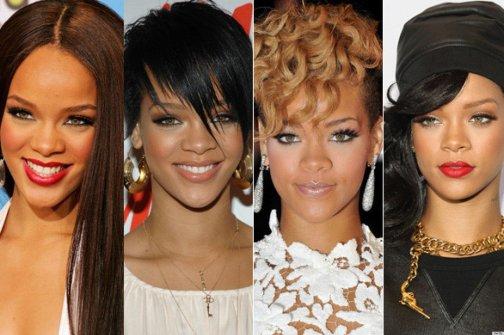 Foto de mulheres com estilos de cabelos diferentes.