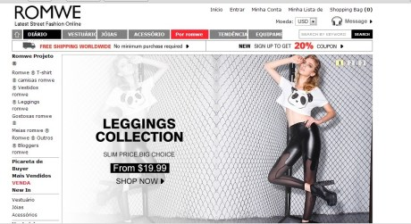 romwe para comprar roupas online