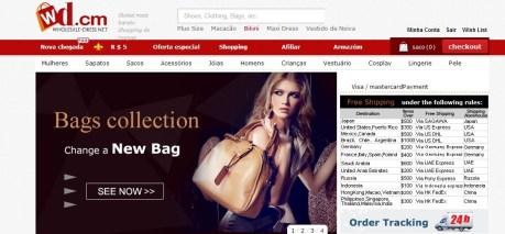 wd para comprar roupas online