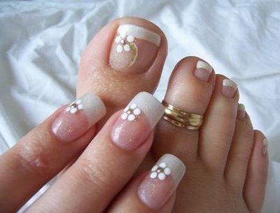 mão e pé de noivas