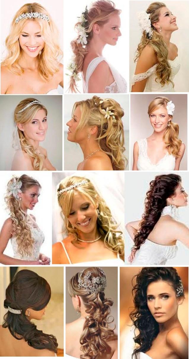penteados soltos-semi presos - Penteados para noivas: cabelo solto e semi solto