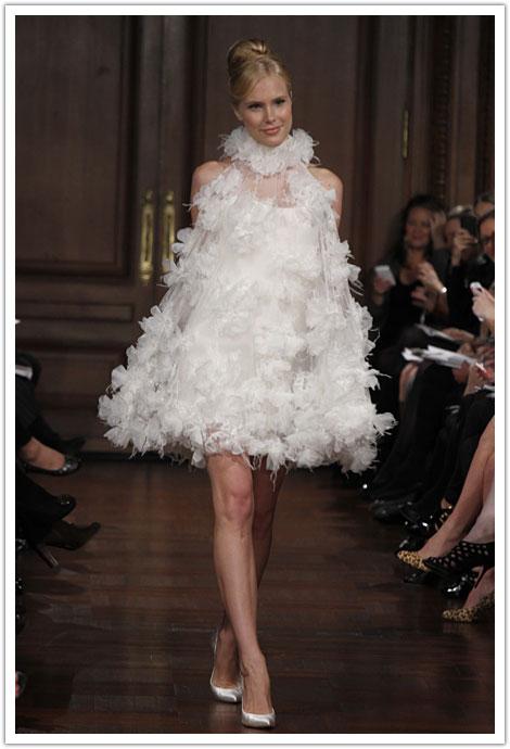 modelos de vestidos de noiva curto softisticados