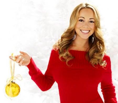 foto de lançamento da Mariah Carey Holiday