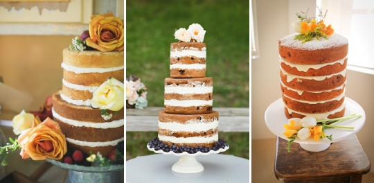 Naked cake feito para casamento