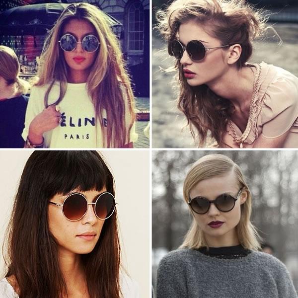 tendências do oculos redondo