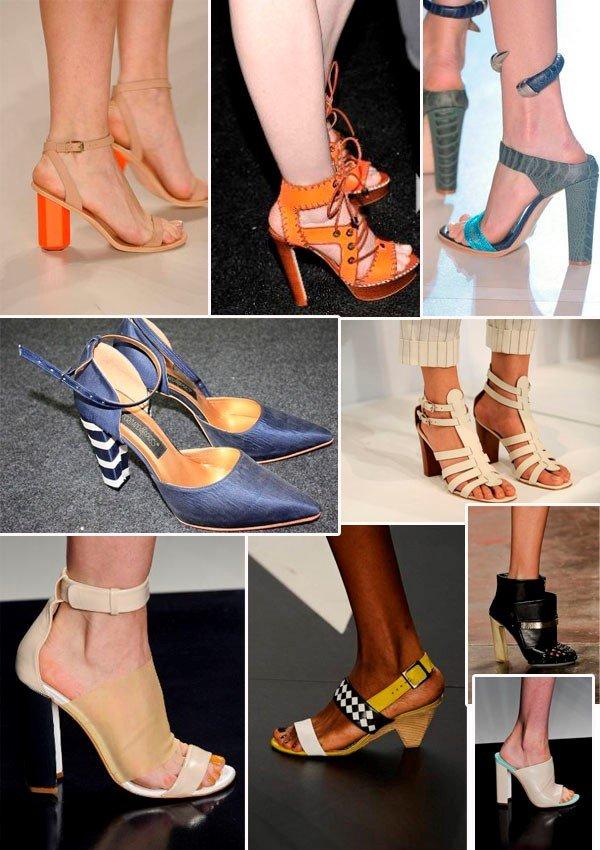 sapatos salto bloco é uma tendência para 2014
