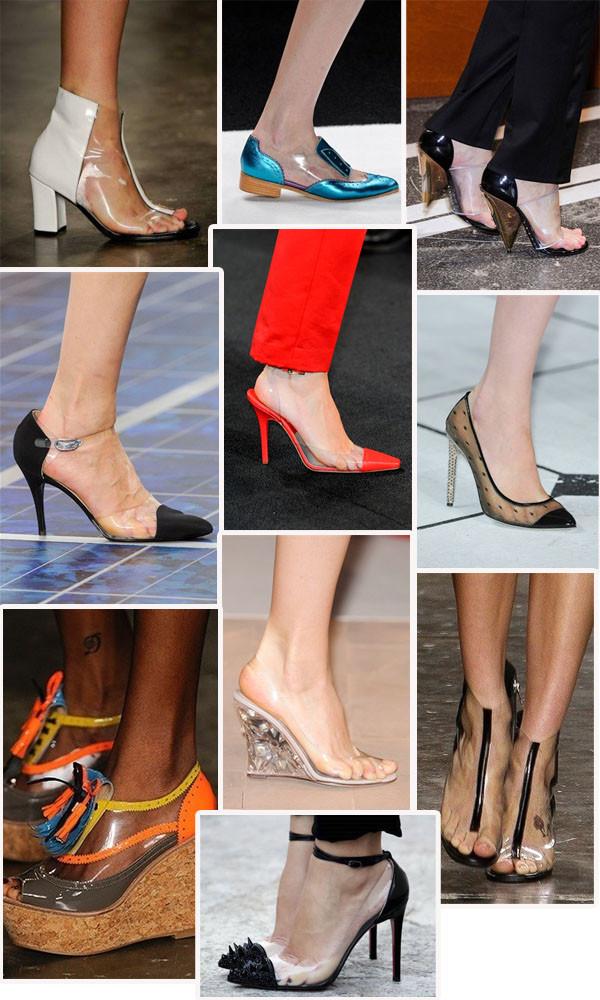 transparência é tendência de sapatos para 2014