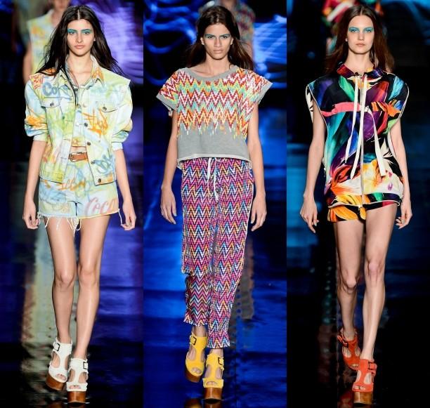 desfile da moda psicodélica