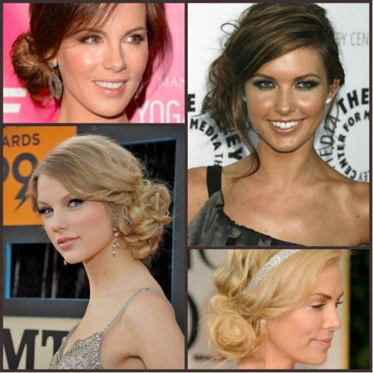 celebridades usando penteado coque