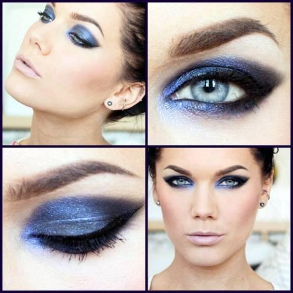 olho esfumado azul passo a passo