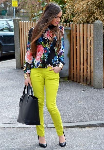 Calça Skinny Colorida