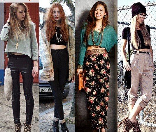 foto das tendências da moda com cropped