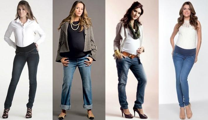 calça jeans para gestantes