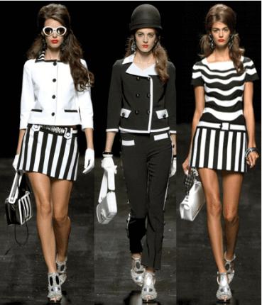 tendências da moda nunca exclui o preto com branco