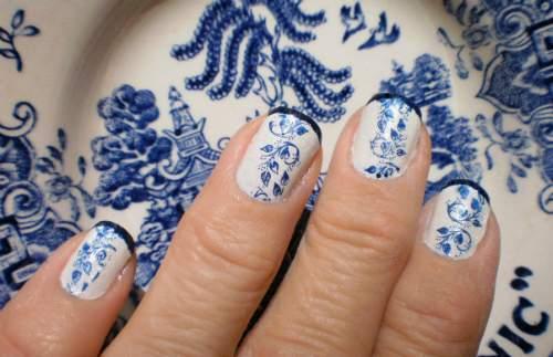 unhas decoradas de azulejo português