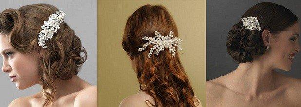 Pentes e presilhas são acessórios de cabelo para noivas