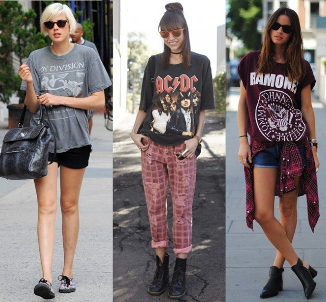 tendência da camiseta de banda artística
