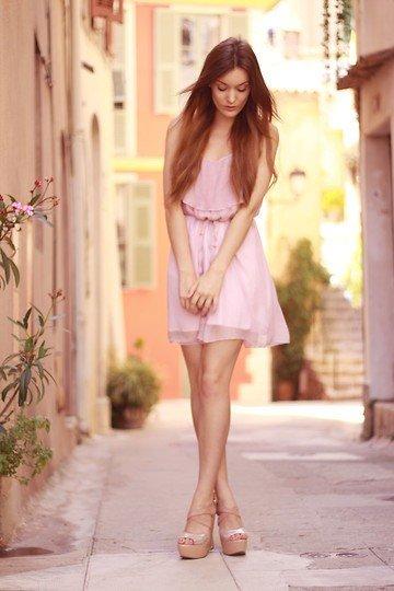 look delicado cor-de-rosa