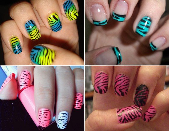 unhas decoradas animal print para inspirar