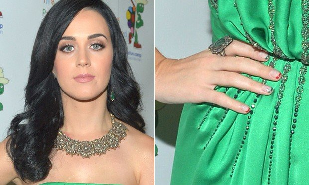 unhas decoradas das famosas de Katy Perry
