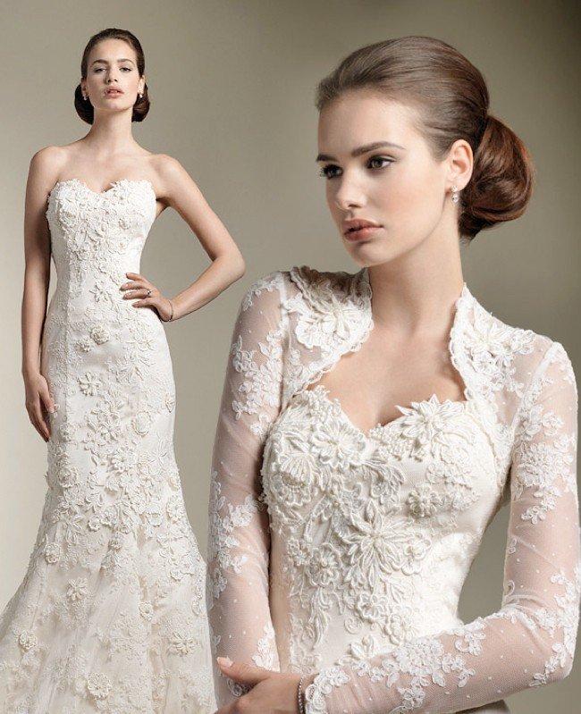 lindo vestido de noiva evangélica com bolero
