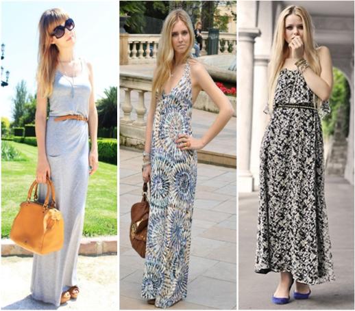mulheres usando vestidos