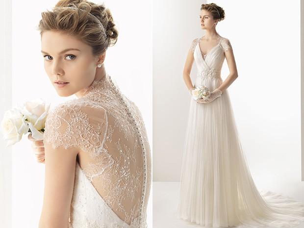 tendências de vestidos de noiva 2014 com manga