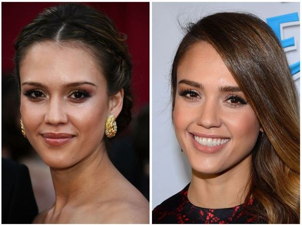antes e depois de modelar as sobrancelhas