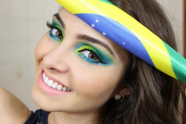 modelo de maquiagem para copa do mundo 2014