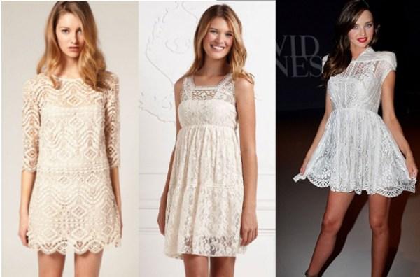 vestido de renda ideal
