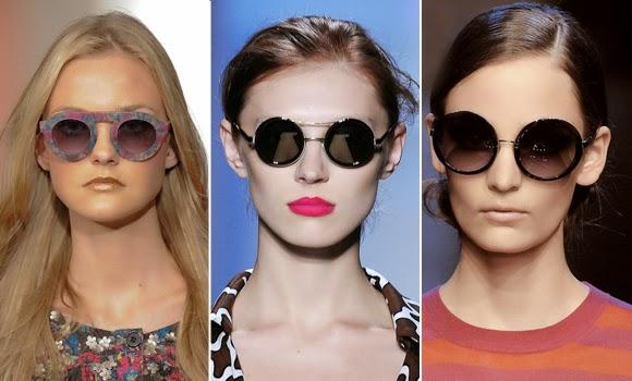 oculos redondos entre as tendências para a Primavera Verão 2015