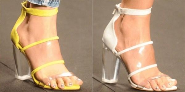 calçados verão 2015 Transparências