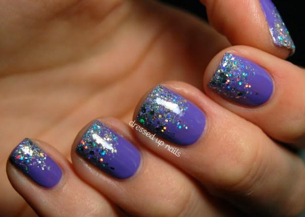 Nail Art com Gliter