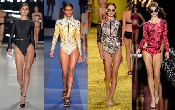 Maiô de manga comprida é uma das tendências da moda praia 2015