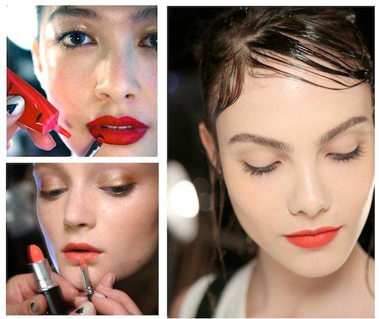 vermelhão entre as tendências de beleza