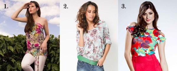 Blusas femininas com estampas florais