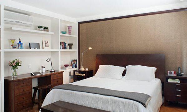Decoração para quarto de casal estilo sóbrio