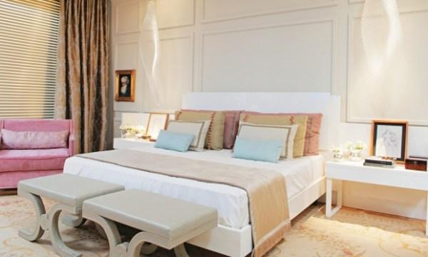 decoração para quarto de casal estilo romântico