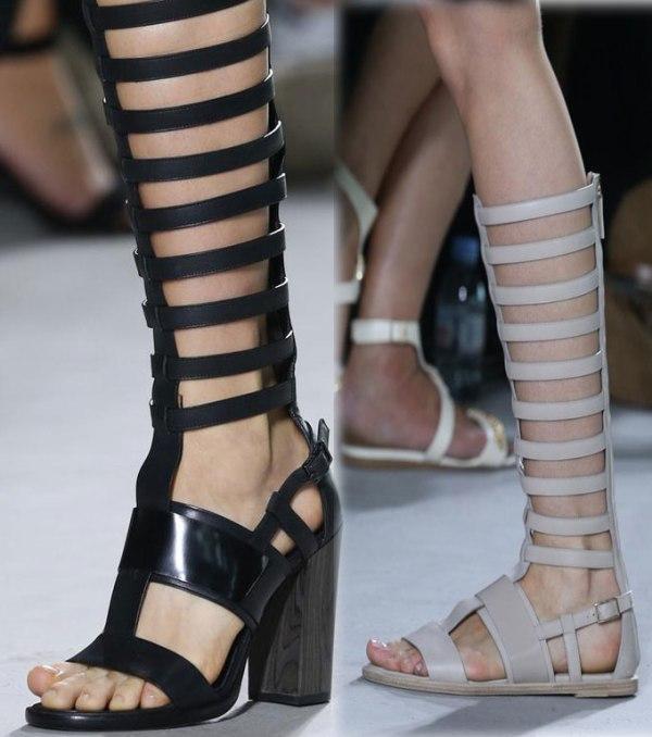 sandálias gladiadoras longas