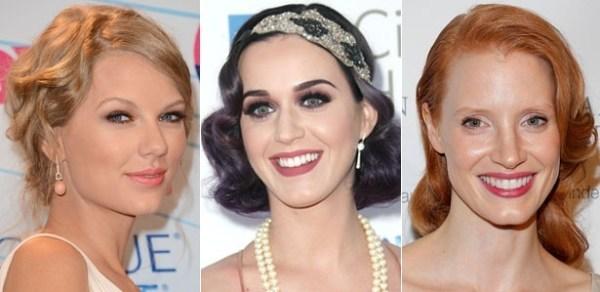 Foto de celebridades com penteado vintage
