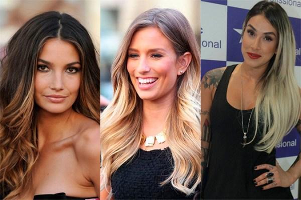 famosas que fizeram Ombré hair para clarear o cabelo