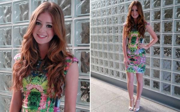 Marina Ruy Barbosa com vestido floral que é uma das tendências de looks do verão
