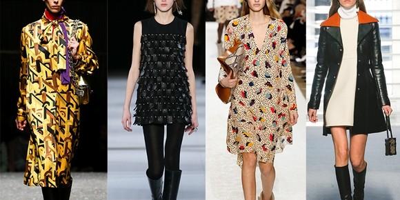 vestidos trapézio na moda inverno 2015