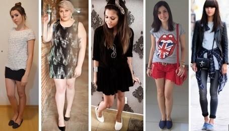 meninas usando alpargatas