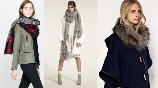 Maxi cachecóis e echarpes para o inverno 2015