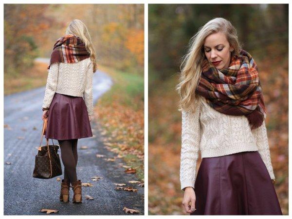 echarpe ou cachecol com mini saia para o inverno 2015